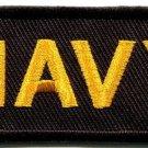 Navy military insignia naval rank war biker retro applique iron-on patch S-706