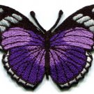 Butterfly insect boho hippie retro love purple applique iron-on patch new S-160