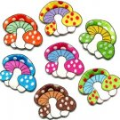 Lot of 7 mushroom boho hippie retro love peace weed appliques iron-on patches