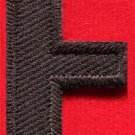 Letter F english alphabet language school applique iron-on patch new S-878