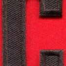 Letter C english alphabet language school applique iron-on patch new S-875
