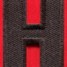 Letter H english alphabet language school applique iron-on patch new S-880
