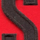 Letter S english alphabet language school applique iron-on patch new S-891