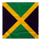 Flag of Jamaica Jamaican bandana handkerchief headwrap head wrap biker 20X20 in.