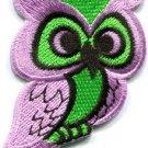 Owl bird of prey hoot animal wildlife applique iron-on patch new S-684