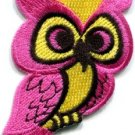 Owl bird of prey hoot animal wildlife applique iron-on patch new S-291