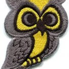Owl bird of prey hoot animal wildlife applique iron-on patch new S-683