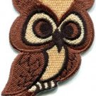 Owl bird of prey hoot animal wildlife applique iron-on patch new S-681