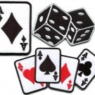 Lot of 3 poker ace playing cards dice lady luck applique iron-on patches new L-4