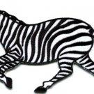 Zebra african equid wild horse safari wildlife applique iron-on patch new S-581