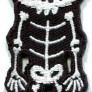 Skull skeleton goth emo horror splatter biker applique iron-on patch new S-256
