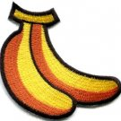 Bananas bunch fruit snack monkey jungle retro fun applique iron-on patch S-820