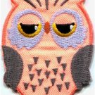 Owl bird of prey hoot animal wildlife applique iron-on patch new S-680