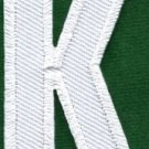 Letter K english alphabet language school applique iron-on patch new S-857