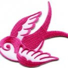 Bird tattoo swallow dove swiftlet sparrow biker applique iron-on patch new S-968