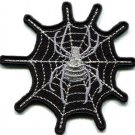 Spider web spiderweb retro boho tattoo sew sewing applique iron-on patch S-823