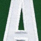 Letter A english alphabet language school applique iron-on patch new S-847