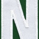 Letter N english alphabet language school applique iron-on patch new S-861