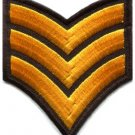 Army navy military insignia rank war biker retro applique iron-on patch S-960