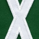 Letter X english alphabet language school applique iron-on patch new S-867