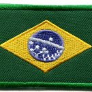Brazilian flag Brazil Rio South America applique iron-on patch Medium new S-107