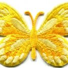 Butterfly hippie yellow applique iron-on patch S-168