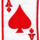 Ace of Spades playing card retro poker applique iron-on patch S-14 WORLWIDE DELIVERY IS FREE!