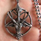 Satanic goat's head Baphomet pentagram pendant necklace FREE WORLDWIDE DELIVERY!