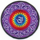 Aum om infinity hindu yoga indian applique iron-on patch new T-6 WORLDWIDE DELIVERY IS FREE!