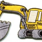 Excavator backhoe tractor trackhoe bulldozer applique iron-on patch S-676 FREE WORLDWIDE DELIVERY!