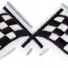 Checkered flag car racing embroidered applique iron-on patch S-1132 WE SHIP ANYWHERE FOR FREE!