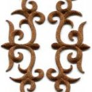 Brown trim fringe boho sew applique iron-on patches pair new S-1109 WORLDWIDE DELIVERY IS FREE!