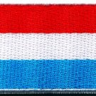 Flag of Luxembourg Europe sewing sew applique iron-on patch Medium new S-1142