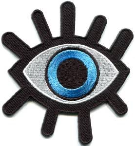 Eye eyeball tattoo wicca occult goth applique iron-on patch S-1045 WORLDWIDE DELIVERY IS FREE!