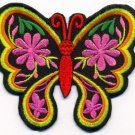 Butterfly insect boho hippie retro love applique iron-on patch new T-38 WE SHIP ANYWHERE FOR FREE!