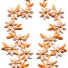 Peach flowers floral boho applique iron-on patches pair new S-1160 WORLDWIDE DELIVERY IS FREE!