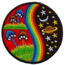 Mushroom rainbow hippie cosmic boho retro applique iron-on patch T-24 WE SHIP ANYWHERE FOR FREE!