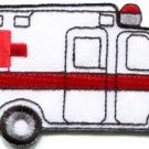 Ambulance emergency transport van retro applique iron-on patch S-1133 FREE WORLDWIDE DELIVERY!