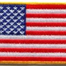 American flag USA United States applique iron-on patch new S-1140 WE SHIP ANYWHERE FOR FREE!