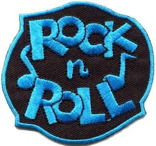 Rock n Roll biker retro slogan rockabilly applique iron-on patch S-1117 FREE SHIPPING WORLDWIDE!