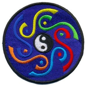 Yin yang tao hippie retro boho weed love pot ying applique iron-on patch T-14 WE SHIP WORLDWIDE!