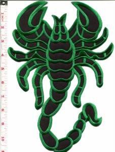 Scorpion biker tattoo Muay Thai applique iron-on patch BIG XL 7.63 x 11 in S-234 WE SHIP WORLDWIDE!