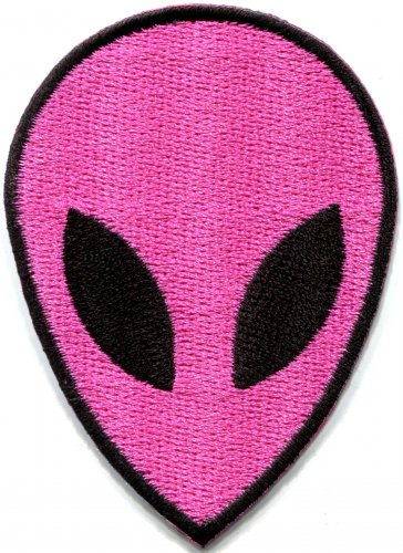 Alien ET ufo flying saucer sci-fi applique iron-on patch S-1187 WE SHIP ANYWHERE FOR FREE!
