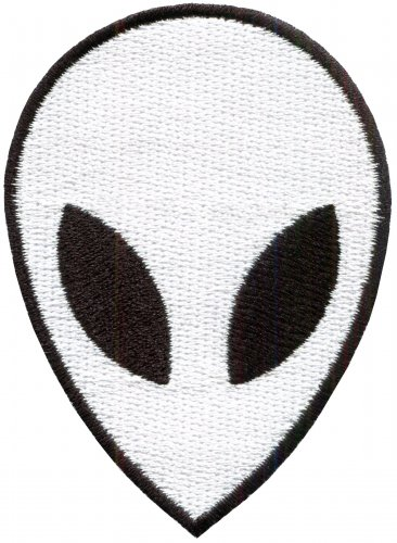Alien ET ufo area 51 sew embroidered applique iron-on patch S-1188 WE SHIP ANYWHERE FOR FREE!