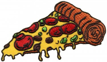 Pizza slice Italian fast food retro fun embroidered applique iron-on patch new S-1205