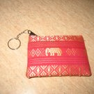 Red elephant design wallet