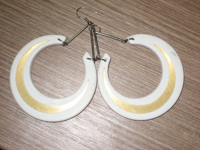 white painted earrings