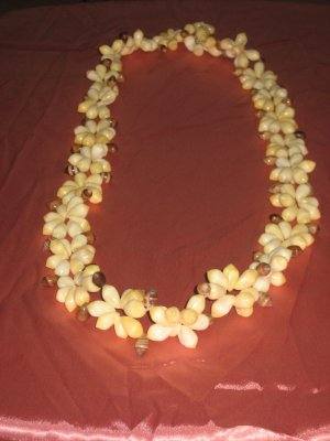 White beeds necklace