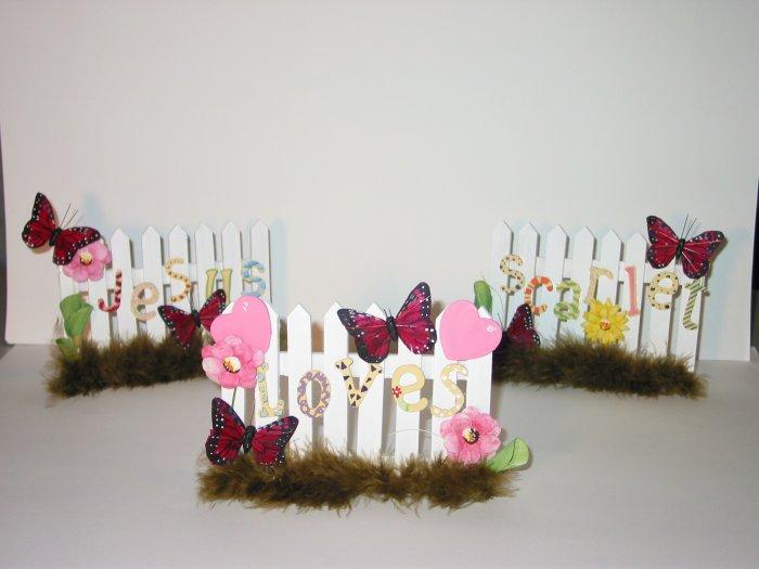 JESUS LOVES------ Personalized gift GIRL design
