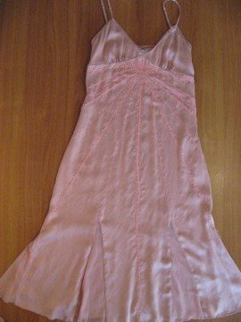 Pink Silk Evening Dress